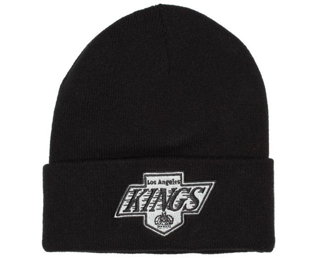 LA Kings Black Logo Beanie - Mitchell & Ness