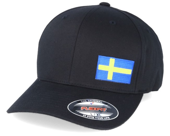 Sweden Flag Side Black Flexfit - Iconic