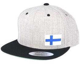 Finland Flag Side Heather/Black Snapback - Iconic
