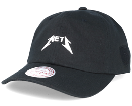 Brooklyn Nets Rock Font Dad Cap Adjustable - Mitchell & Ness