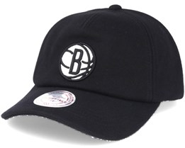 Brooklyn Nets Black Throwback Adjustable - Mitchell & Ness