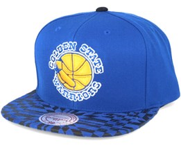 Golden State Warriors Kaleidoscope Red Snapback - Mitchell & Ness