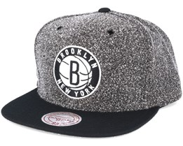 Brooklyn Nets Static 2 Tone Black/Black Snapback - Mitchell & Ness