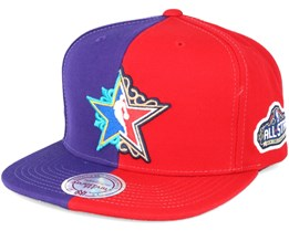 Split Alltstar Purple/Red Snapback - Mitchell & Ness