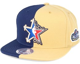Split Alltstar Navy/Cream Snapback - Mitchell & Ness