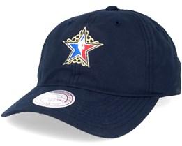 Peached Oxford Allstar Navy Dad Cap Adjustable - Mitchell & Ness