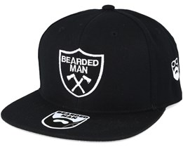 Axe Crest Black Snapback - Bearded Man