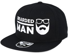 BMLogo Black Snapback - Bearded Man