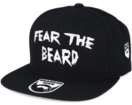 Fear The Beard Black Snapback - Bearded Man