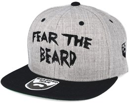Fear The Beard Grey/Black Snapback - Bearded Man