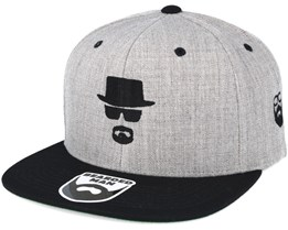 Heisenbeard Grey/Black Snapback - Bearded Man