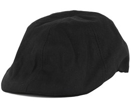 Logo Black Flat Cap - Bearded Man