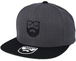 Logo Charcoal/Black Snapback - Bearded Man