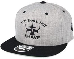 Shall Not Shave Grey/Black Snapback - Bearded Man
