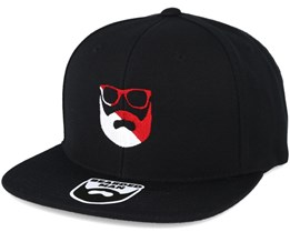 Split Logo R/W Black Snapback - Bearded Man