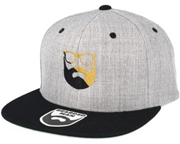 Split Logo G/B Grey/Black Snapback - Bearded Man