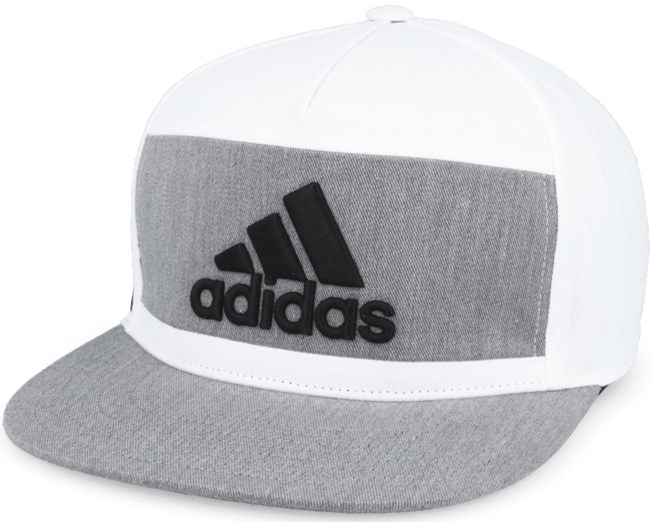 Heather Block White Snapback - Adidas
