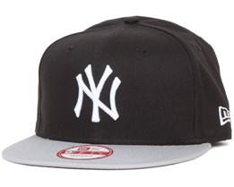 NY Yankees MLB Cotton Block Black/Grey 9fifty - New Era