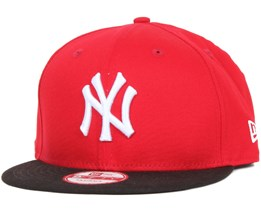 NY Yankees MLB Cotton Block Scarlet/Black 9fifty - New Era