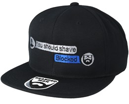 Convo Black Snapback - Bearded Man