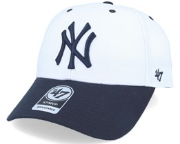 New York Yankees Audible 2 Tone Mvp White/black Adjustable - 47 Brand