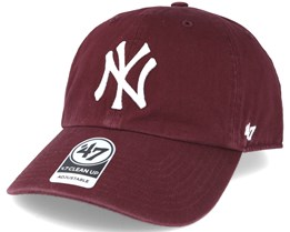 New York Yankees `47 Clean Up Maroon Red Adjustable - 47 Brand