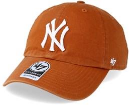 New York Yankees Clean Up Burnt Orange Adjustable - 47 Brand