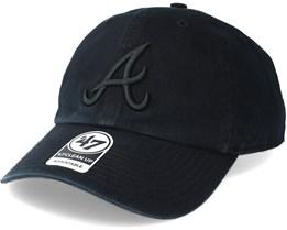 Atlanta Braves Clean Up Black Adjustable - 47 Brand