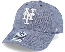 New York Mets Strike Through Clean Up Heather Navy Adjustable - 47 Brand