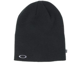 Fine Knit Black Beanie - Oakley