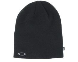Fine Knit Black Beanie - Oakley