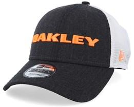 Heather Navy/Neon Orange Trucker - Oakley