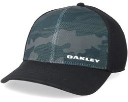 Silicone Bark Trucker Print 2.0 Black Flexfit - Oakley