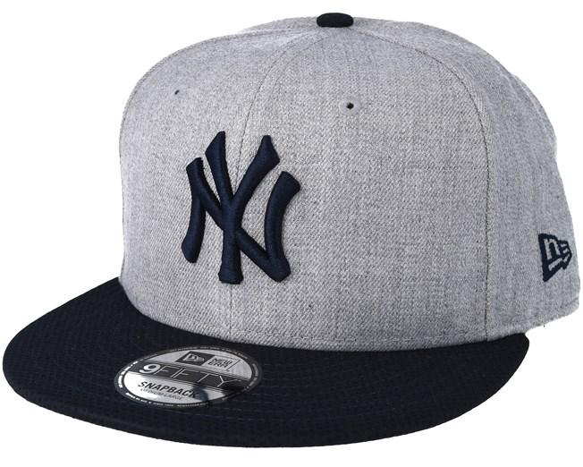 224821521de New York Yankees Mesh Heather Grey Trucker Snapback - New Era caps ...
