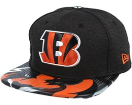 Cincinnati Bengals Draft 2017 9Fifty Heather Black Snapback - New Era