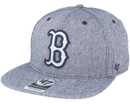 Boston Red Sox Herring Captain Heather Navy Snapback - 47 Brand