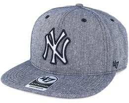 New York Yankees Herring Captain Heather Navy Snapback - 47 Brand