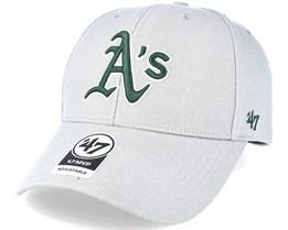 Oakland Athletics Mvp Grey Adjustable - 47 Brand