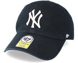 Kids New York Yankees Youth Clean Up Black Adjustable - 47 Brand