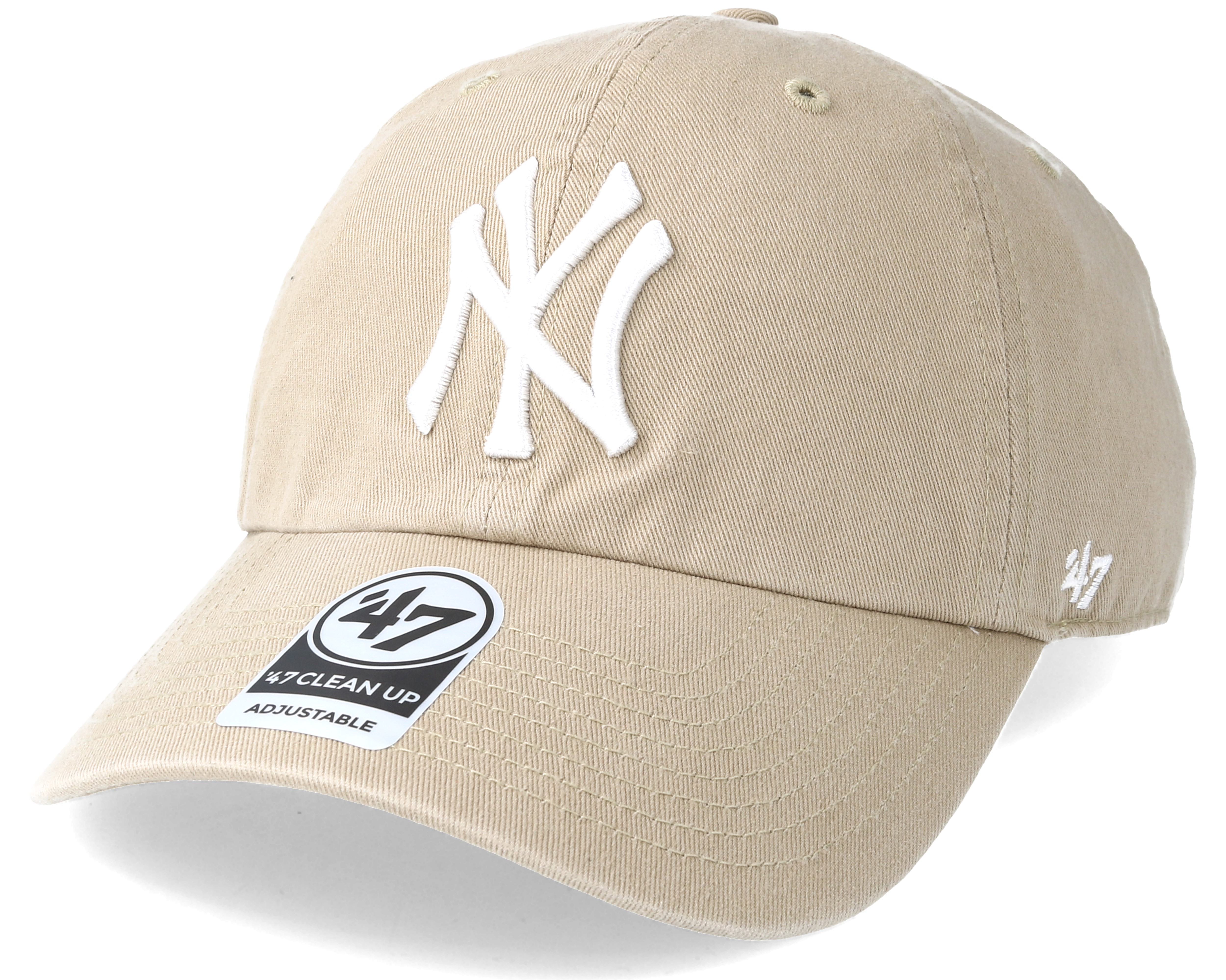 los angeles cfe4e 7f4b3 ... italy new york yankees clean up khaki white adjustable 47 brand caps  9bde6 0b743