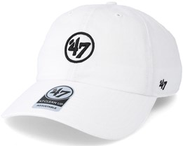 New York Yankees 47 Brand Logo Clean Up White Adjustable - 47 Brand