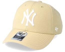 New York Yankees Mvp Light Tan Adjustable - 47 Brand