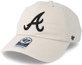 Atlanta Braves Clean Up Natural Adjustable - 47 Brand