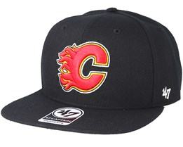 Calgary Flames Sure Shot Black Snapback - 47 Brand