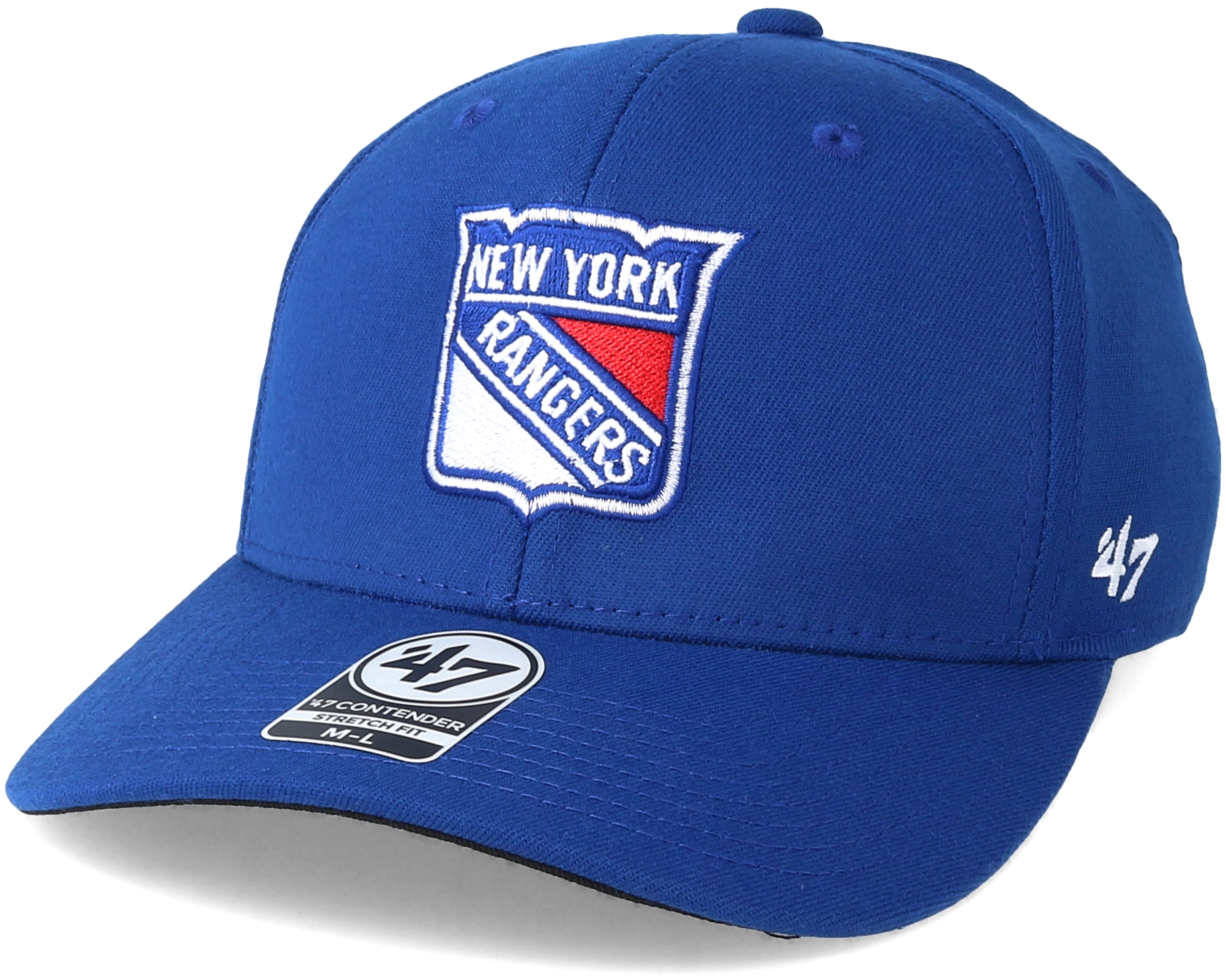 new york rangers contender royal flexfit 47 brand cap. Black Bedroom Furniture Sets. Home Design Ideas