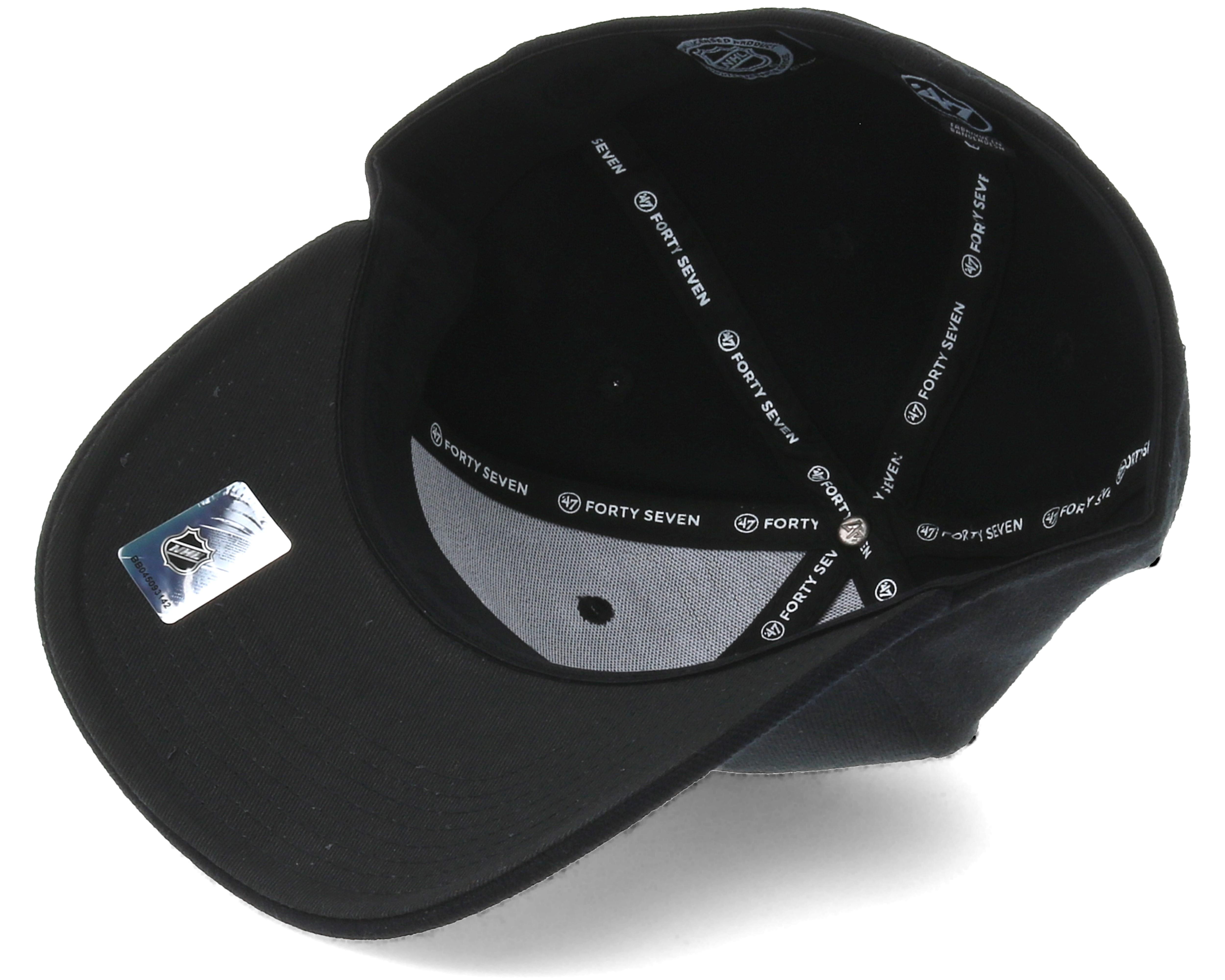 San Jose Sharks Contender 2 Black Flexfit - 47 Brand caps  a6df164c2c5c
