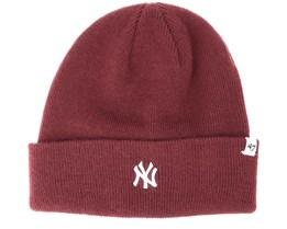 New York Yankees Centerfield Dark Maroon Beanie - 47 Brand