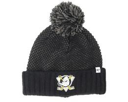 Anaheim Ducks Droper Black Beanie - 47 Brand