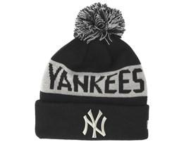 New York Yankees Tonal Black/Grey Pom - New Era