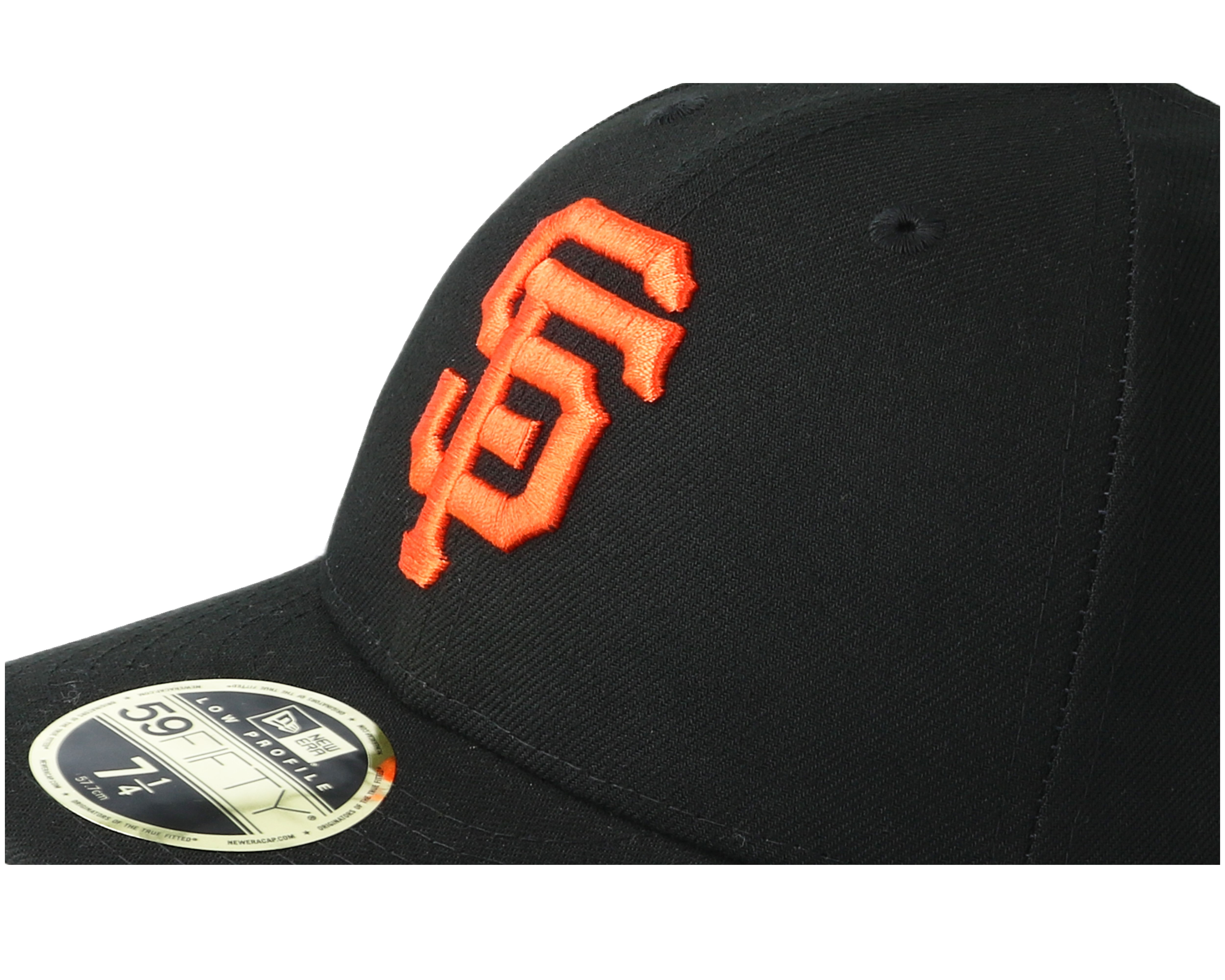 san francisco giants poly low profile 59fifty black fitted new era cap. Black Bedroom Furniture Sets. Home Design Ideas